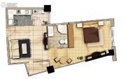 天祥海景城1室1厅1卫0平方米户型图