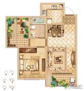 首创悦都1室2厅1卫73平方米户型图