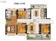 碧桂园豪进左岸4室2厅2卫141平方米户型图