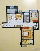 中泰华府2室2厅1卫81平方米户型图