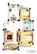 中浪玉泉花苑2室2厅1卫84平方米户型图