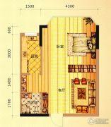 未来城11号1室1厅1卫48平方米户型图