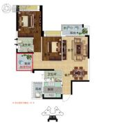 雅居乐英伦首府3室2厅2卫101平方米户型图