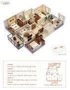 当代万国府MOMΛ3室2厅2卫120平方米户型图