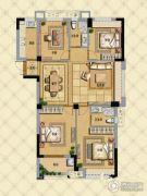 璞缇学苑4室2厅2卫120平方米户型图