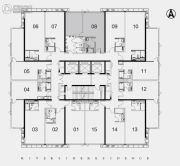 江湾2981室1厅1卫90平方米户型图