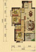 香樟美地3室2厅2卫115平方米户型图