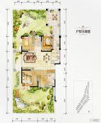 万达西双版纳国际度假区3室2厅2卫120平方米户型图