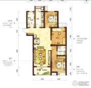 阳光100国际新城3室2厅2卫129平方米户型图
