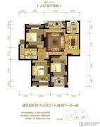金世纪运河丽园3室2厅1卫115平方米户型图