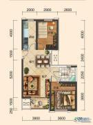 一方南岭国际2室2厅1卫93平方米户型图