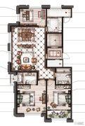御庭园3室2厅2卫130平方米户型图