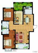 东胜紫御府3室2厅2卫120平方米户型图