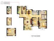 金海丽水湾3室2厅2卫0平方米户型图
