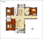 佳合如苑3室2厅2卫135平方米户型图