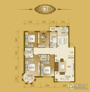 香山美墅4室2厅2卫143平方米户型图