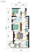 融创・海湾半岛2室2厅1卫84--87平方米户型图