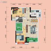 广电兰亭时代3室2厅1卫91平方米户型图