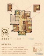 祥生悦山湖4室2厅2卫116平方米户型图