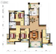 兰州碧桂园4室2厅3卫169平方米户型图