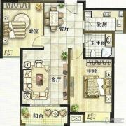 绿都万和城2室2厅1卫88平方米户型图