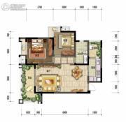 棠湖泊林城2室2厅1卫74平方米户型图