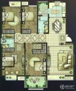 世茂香槟湖4室2厅2卫175平方米户型图