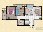 行宫・御东园2室1厅1卫88平方米户型图