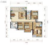 保利心语4室2厅2卫122平方米户型图