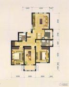 中央花园3室2厅2卫142平方米户型图