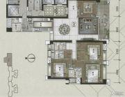 富力东山新天地4室2厅3卫242平方米户型图
