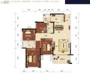 荣和公园悦府4室2厅2卫122--136平方米户型图
