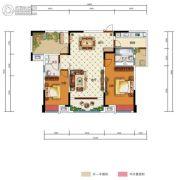 中国电建・湘熙水郡3室2厅2卫124平方米户型图