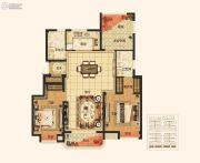 绿地江南华府3室2厅2卫115平方米户型图