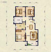 保艾尔云麓3室2厅1卫122平方米户型图