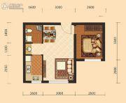 伊水湾1室1厅1卫50平方米户型图
