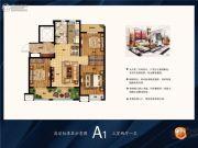 银盛泰・博观新城3室2厅1卫0平方米户型图