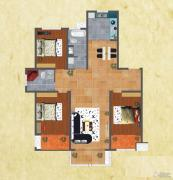 友谊嘉御龙庭3室2厅2卫148--155平方米户型图