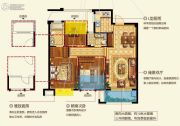 中梁国宾府3室2厅2卫96平方米户型图