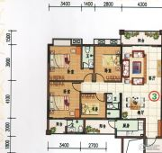 府前雅居苑4室3厅2卫138平方米户型图
