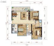 保利心语3室2厅2卫110平方米户型图