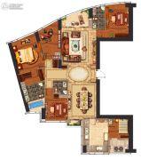 华远华中心4室2厅3卫270平方米户型图