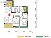 胜坚・尚城美居3室2厅2卫98平方米户型图