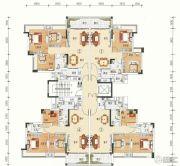 文华豪庭3室2厅2卫76--90平方米户型图