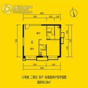 恒大都市广场0室0厅0卫90平方米户型图