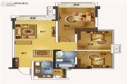蓝润光华春天3室2厅1卫83平方米户型图