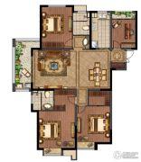 绿地峰云汇4室2厅2卫143平方米户型图