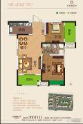 奕铭・阳光城2室2厅1卫78平方米户型图