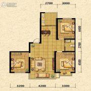 瑞士风情小镇三期铂邸3室2厅1卫115平方米户型图