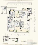 泰达・润景园3室2厅2卫142--143平方米户型图